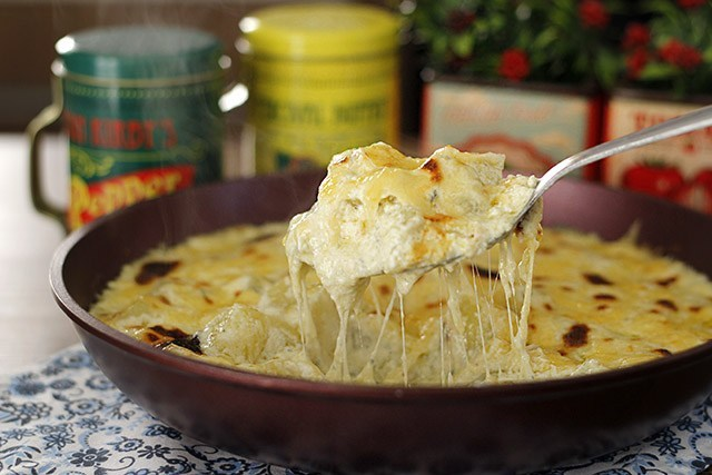 Batatas com queijo
